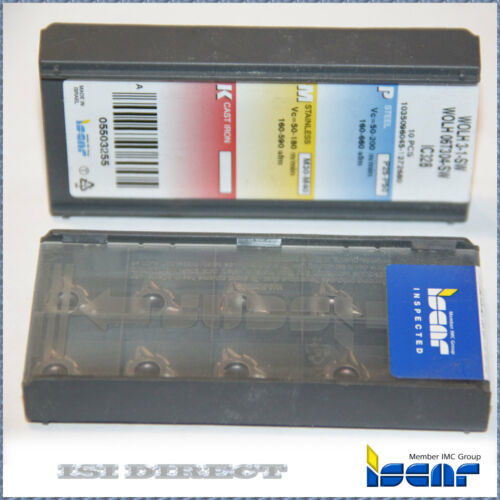 WOLH 3 1 SW IC328 ISCAR*** 10 INSERTS *** FACTORY PACK ***