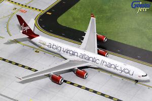 "Gemini Jets 1:200 Virgin Atlantic A340-600 ""A Big Thank You"" G2VIR732 IN STOCK"