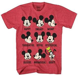 97738cd046fde2 Disney Mickey Mouse Goofy Moods World Funny Humor Adult Mens Graphic ...
