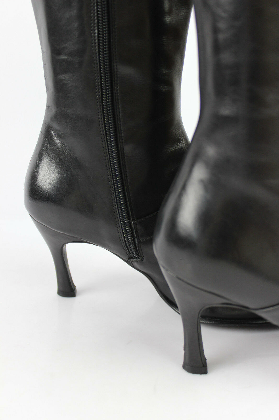 Mi Stiefel sciuscià t VENUE D'AILLEURS schwarzes Leder t sciuscià 38 sehr guter Zustand 7e1bab