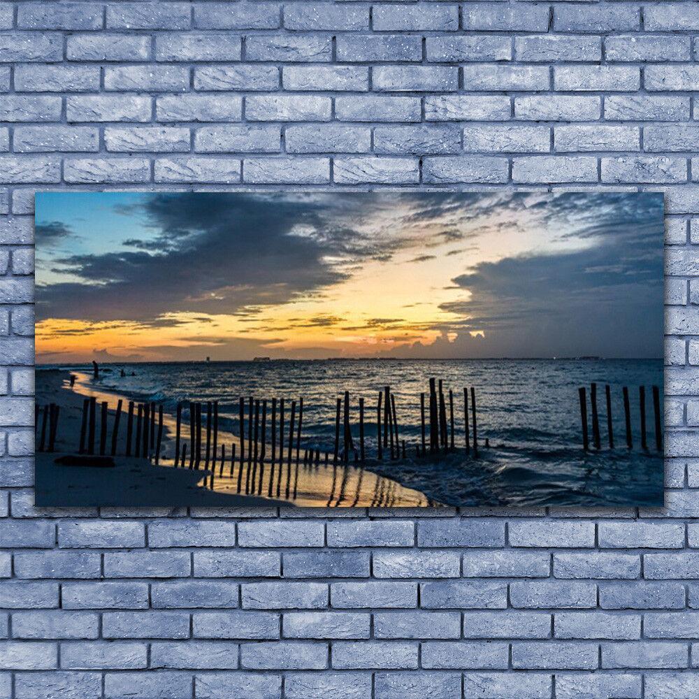 Tableau Image Impression Impression Image sous verre 140x70 Paysage Mer Plage b87e4c