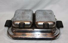 Vintage 1930's Chrome General Electric Model 119Y198  Double Waffle Iron