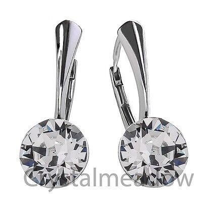 925 Sterling Silver Leverback Earrings XIRIUS Crystal Genuine Swarovski Elements
