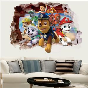 Details About Paw Patrol Children Wall Stickers Dog Nursery Kids Boy Room Decals Uk