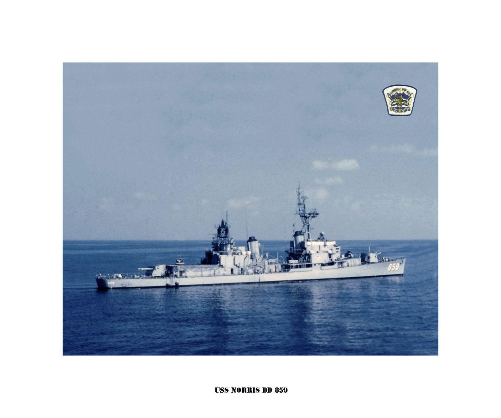 USS NORRIS DD 859 , US Naval Destroyer,  USN Navy Ship Drucken