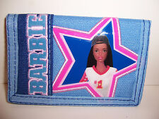 African American BLUE BARBIE TRI-FOLD WALLET Coin Purse Card Holder Case NEW!!