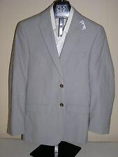 $495 New Jos A Bank JOSEPH Grey stripe pattern cotton suit 40 R 34 W x 28 L