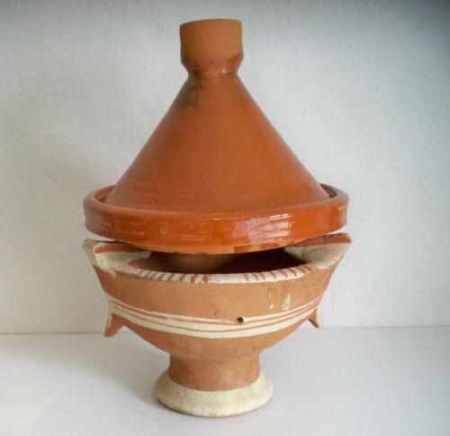 Plat a tajine tagine Marocain cuisson terre cuite emaillé  30cm + brasero kanoun