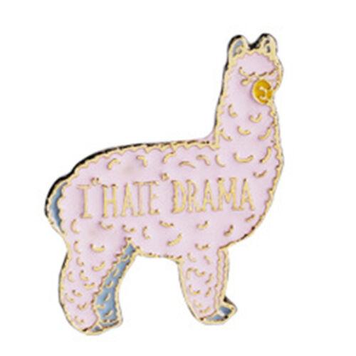 Cute Cartoon Animals Girl Enamel Collar Pins Badge Corsage Brooch Jewelry  Jw