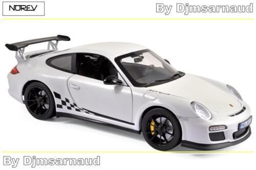 Porche 911 GT3 RS de 2010 White /& Black Trim NOREV NO 187561 Echelle 1//18