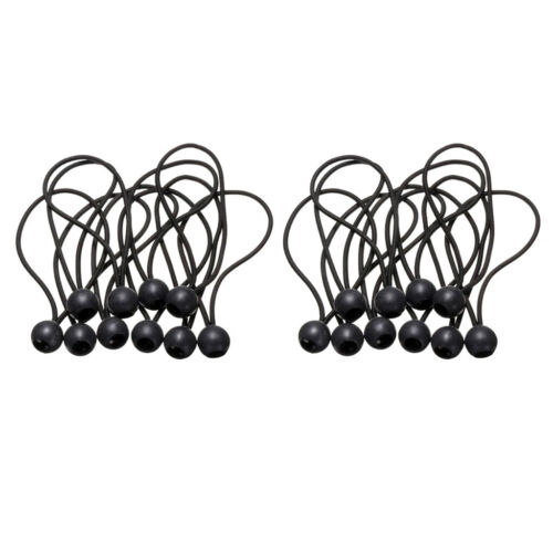 20x Ball Bungee Loop Cord Tarpaulin Tent Awning Fix Strap Weather Resistant