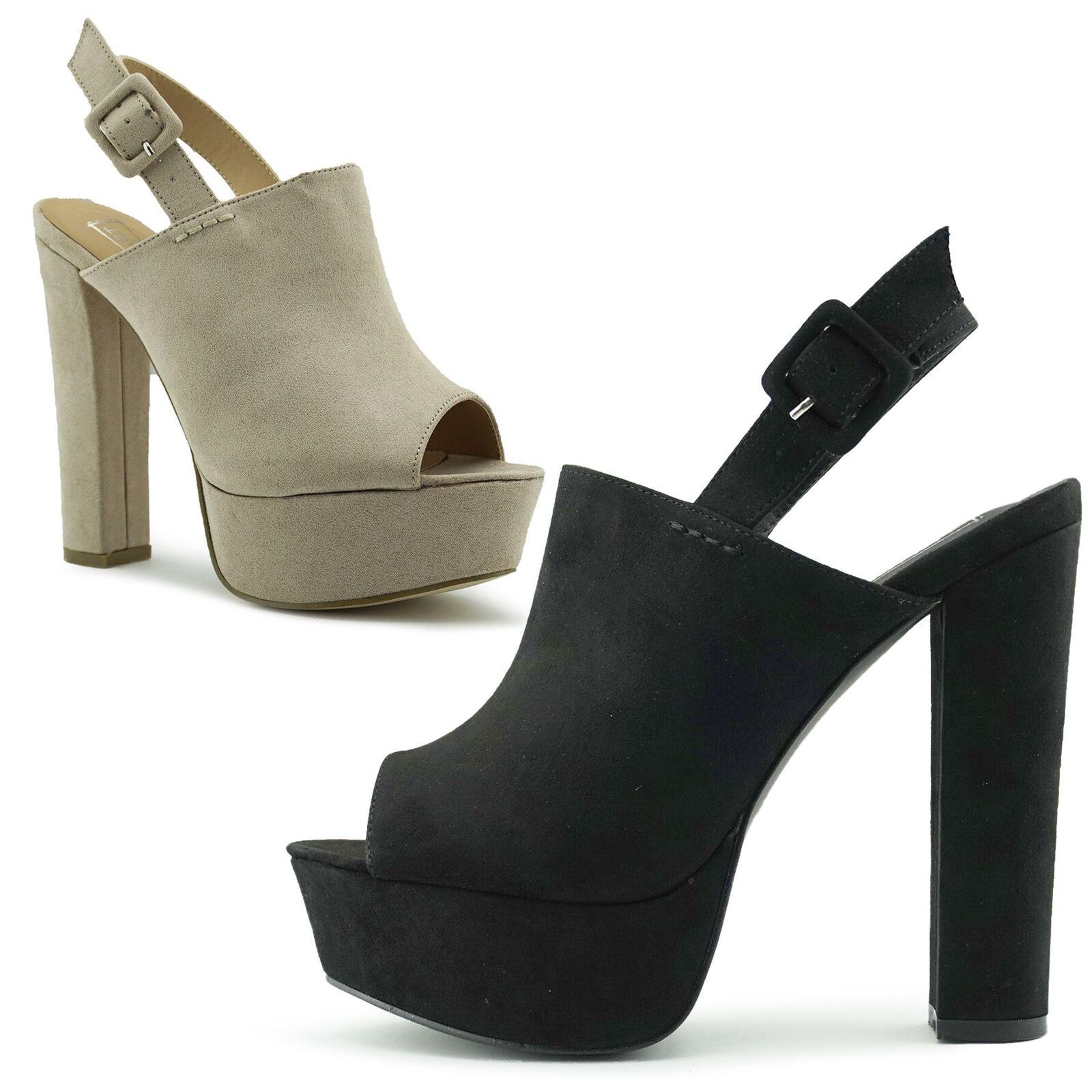 78aa601b479 New Women's Cleated Platform shoes Platform Peep High Heel Toe ...