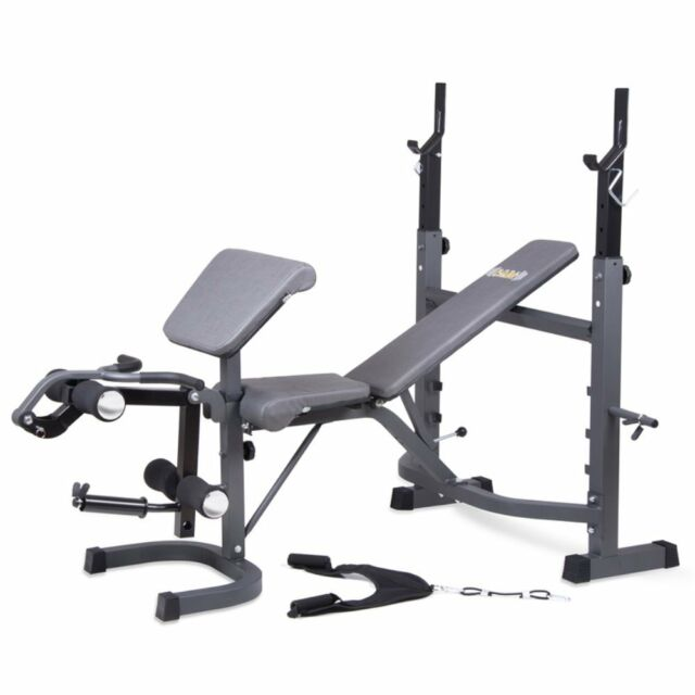 Body Champ Bcb5860 Olympic Weight Bench Dark Gray Black