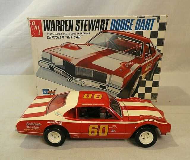 MUST SEE! NICE BUILT 1970`S AMT WARREN STEWART DODGE DART STOCK CAR 1/25 MODEL!