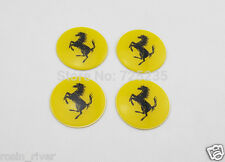 Adesivo Decalcomania Auto Pneumatico centro ruota hub cap badge Ferrari F430 458 SPIDER Emblema