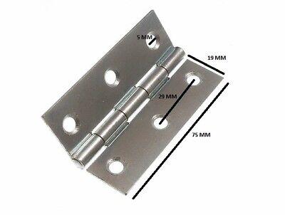 FleißIg Scharniere Tür Tor Bbzp Verzinkter Stahl 75mm 7.6cm Baustoffe & Holz Sonstige Schrauben 20 Paar Bequem Und Einfach Zu Tragen