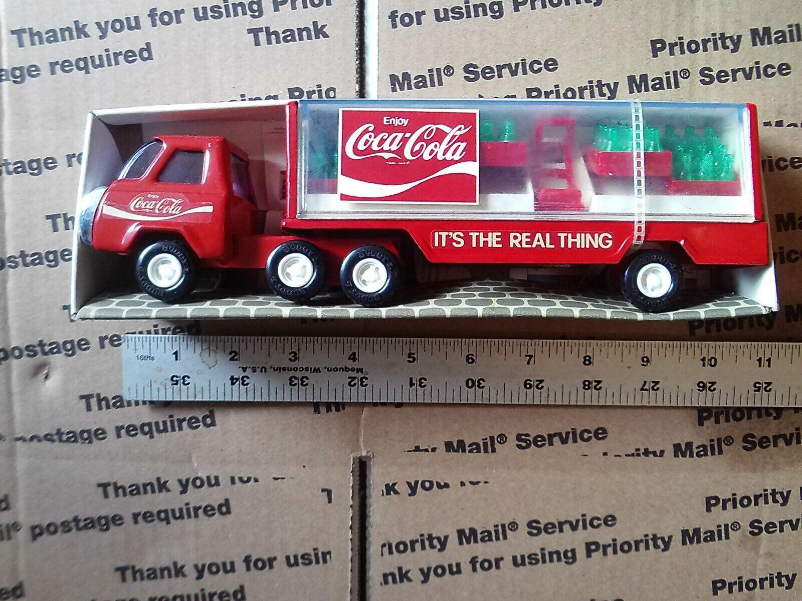 Vintage Buddy L Coca-Cola Trailer Sturdy Steel In Box