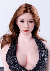 1-6-Scale-Asia-Female-Brown-Wavy-Hair-Head-Sculpt-Toy-Fit-12-034-Phicen-Figures-Toy