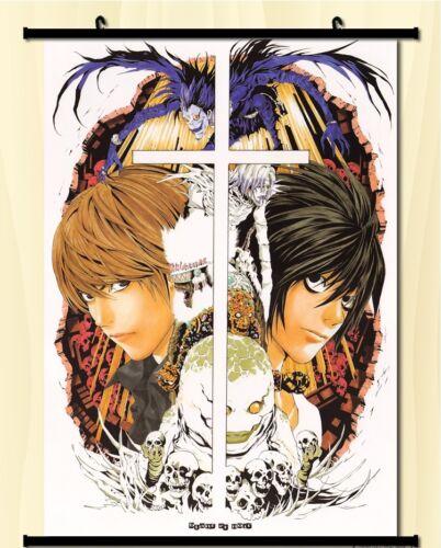 "Hot Japan Anime Death Note Yagami Light Art Home Decor Wall Scroll 8/""x12/"" 02"