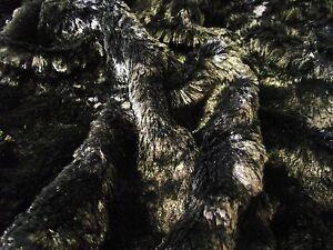 Tissu-Fausse-Fourrure-Ultra-Luxueuse-Materiel-MICRO-NOIR