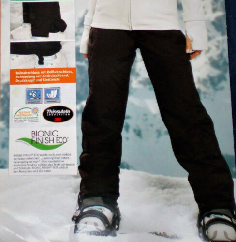 Damen SKIHOSE Snowboardhose Schneehose Gr.36 38 42 lila//dunkelbraun NEU
