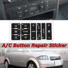 AUDI A6 AC Dash Repair Button Restoration Decals Stickers