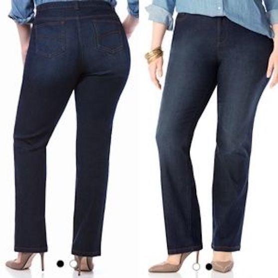 NEW Catherine's 18WP Petite Secret Slimmer Synergy Stretch Denim Jeans Dark Wash