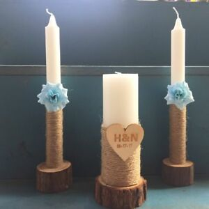 Wedding-Unity-Candles-Set-of-3-with-Wooden-Candle-Holders-Unity-Wedding-Candle