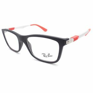 49e4cd5fe6 Ray Ban Kids 1549 3652 46mm Matte Black Red Frames New Authentic ...
