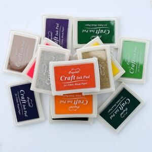 15-Colors-Large-Rubber-Stamps-Craft-Ink-Pad-Pigment-For-Paper-Wood-Fabric-Crafts