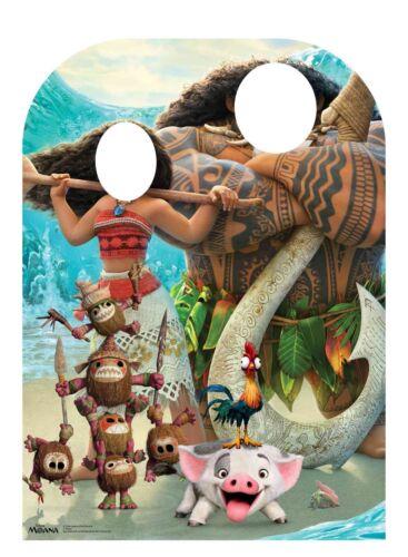 Moana enfant taille STAND-IN Official Disney Carton Découpe//Voyageur debout Maui pua
