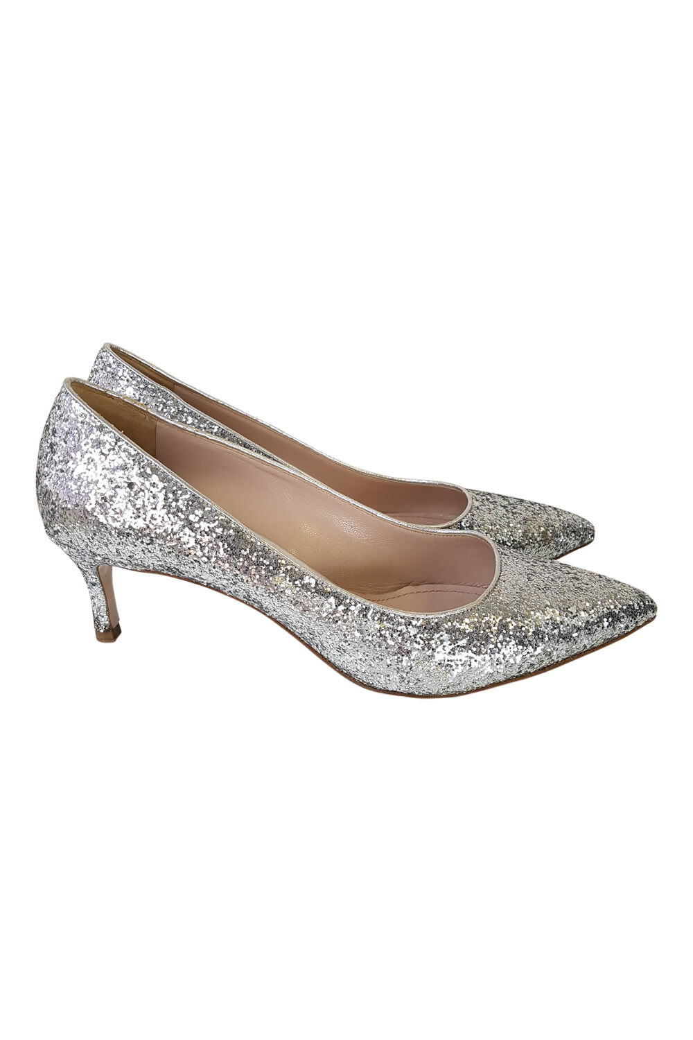 MIU MIU  argent paillettes bout pointu Escarpins (UK 5.5)