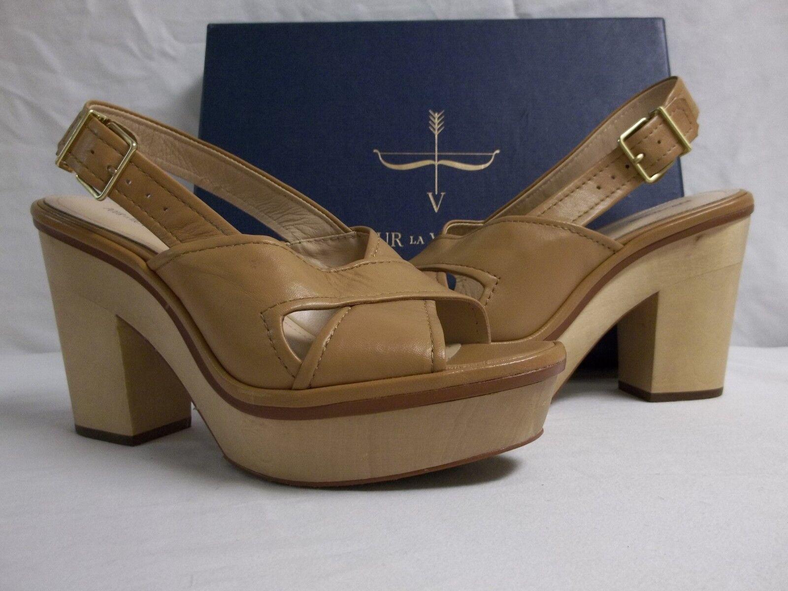 Pour La Victoire 8 M Pabla Cigar Nappa Pelle Slingback Heels New Donna Shoes