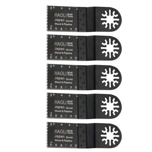 5 Pcs Wood Saw Oscillation Bi-Metal Blades Oscillating Multitool Multi Tool