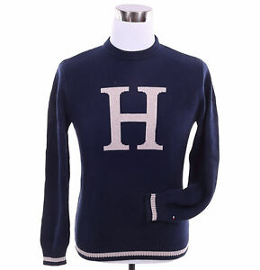 Tommy Hilfiger Men Classic Crew Neck H Logo Long Sleeve Sweater