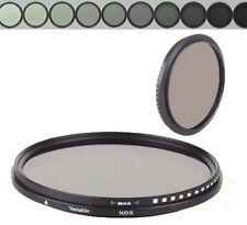72mm Glass Fader ND Filter Neutral Density ND2 to ND400 ND4 ND8 F SLR Camera Len