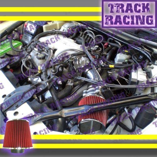 97 98 99 00 01 02 03 PONTIAC GRAND PRIX 3.1L V6 FULL AIR INTAKE KIT Black Red TB