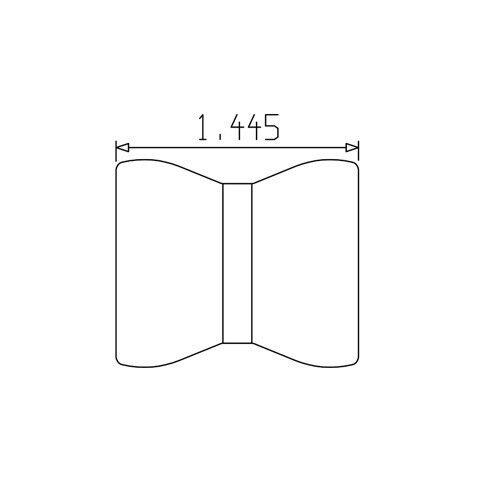 "Pack of 4 Loc-Line 3//4/"" Double Socket for Modular Hose"
