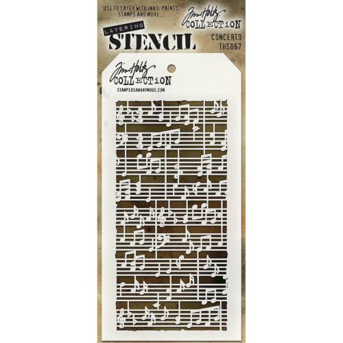 Sheet Stencils Tim Holtz Layering Stencil Template Music Notes Concerto