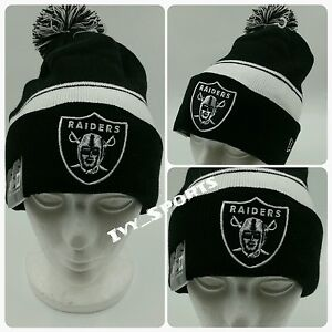 8ef1c982fda2e9 Image is loading NFL-Oakland-Raiders-New-Era-Cuffed-Knit-Beanie-
