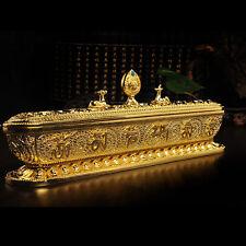 Tibetan Tibet Buddhist Buddha Alloy OM 8 Symbols incense powder Burner Holder