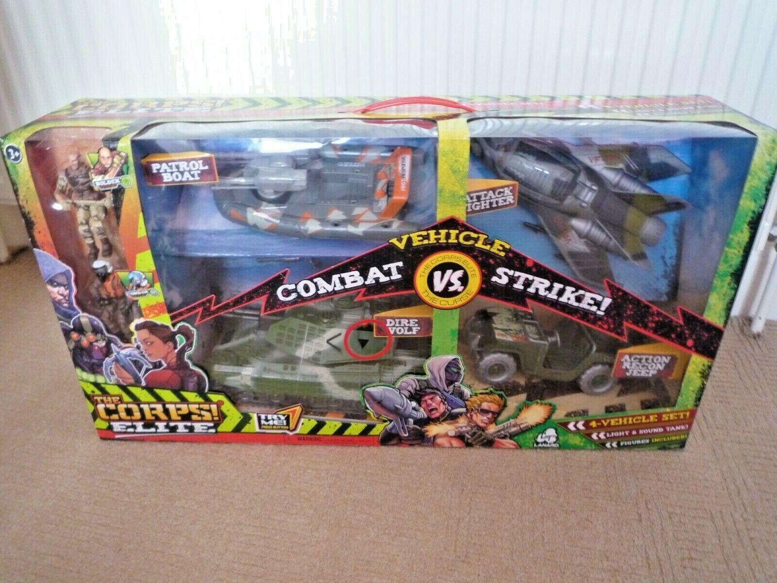 Il corpo Elite Combat Strike 4 Veicolo Set con cifre Boulder & CONDOR