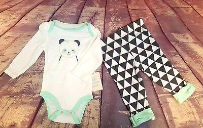 Cloud Island Infant Girls Long Sleeve 2 Piece Bodysuit W//Bib 3-6 Months 3835