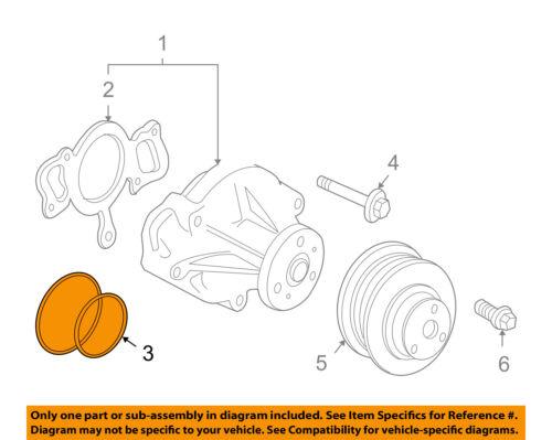 JAGUAR OEM 03-08 S-Type 4.2L-V8-Water Pump O-Ring Seal KSR634001 55mm