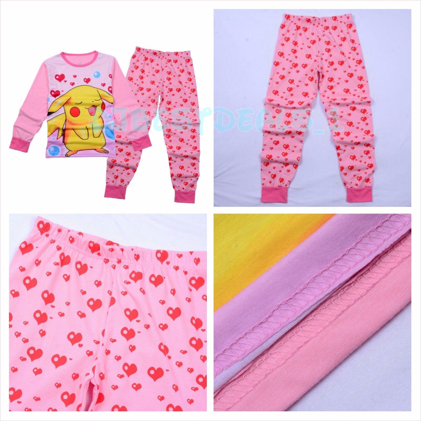 New Kids Long Sleeve Clothing Set Cartoon Pokemon pikachu Pajamas