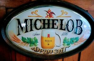 Vintage-MICHELOB-BEER-SIGN-Anheuser-Busch-DRAUGHT-1896-Bubble-Sign-23-034-x-14-1-2-034
