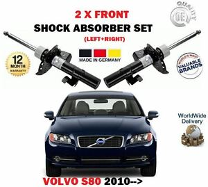 FOR VOLVO S80 T4 T4F T5 T6 AWD T 2010-> 2 x FRONT SHOCK ABSORBER SHOCKER SET