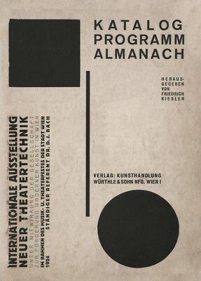 1924 by Frederick Kiesler Ausstellung neuer Theatertechnik Bauhaus Poster