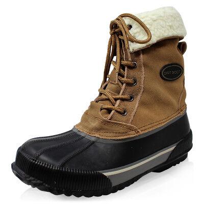 Ospitale Dirt Boot Termico Foderato In Cuoio Impermeabile Invernale Stivali Da Neve- Design Accattivanti;
