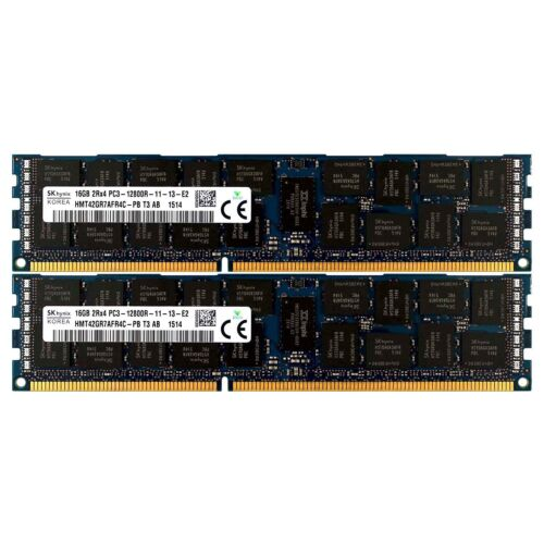 PC3-12800 2x16GB DELL PRECISION WORKSTATION T5500 T5600 T7500 T7600 Memory Ram